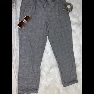Zara Trafaluc Collection Houndstooth Plaid Pants